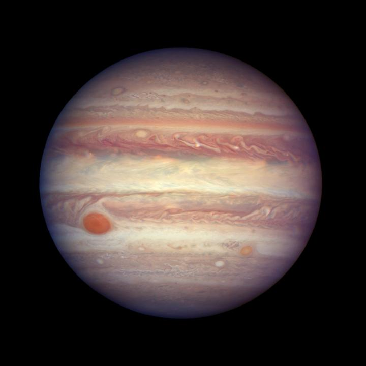 Jupiter's Swirling Colorful Clouds