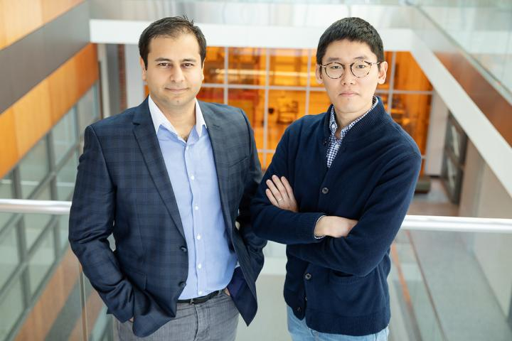Can Bayram, Left, and Kihoon Park Led a Study that Redefines the Thermal Properties of Gallium Nitri