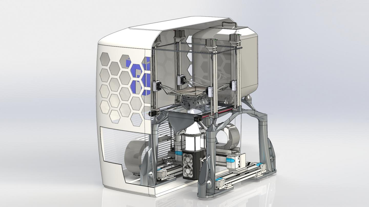 Visualization of the 3D Printer