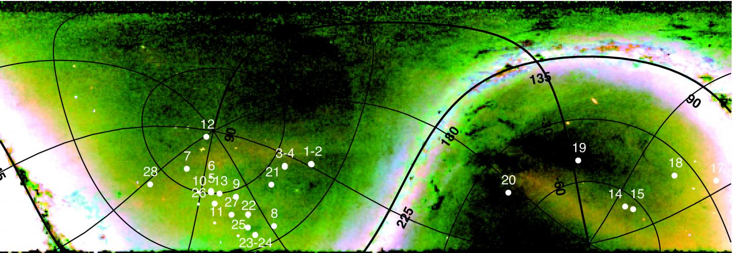 Distant Milky Way Halo Giants Marked on a Pan-STARRS1 Map