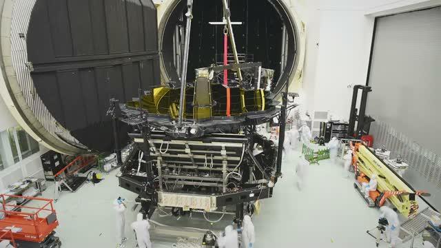 JWST Video of Engineers Aligning the Mirror of JWST
