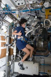 NASA Astronaut Performing a Cardiopulmonary Exercise Test