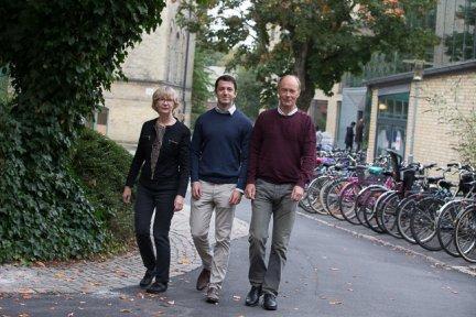 Eva Torkelson, Kristioffer Holm and Martin Bäckström