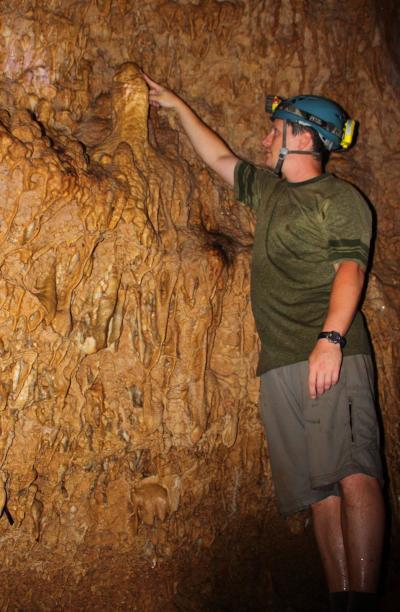 Jud Partin in Vanuatu Cave