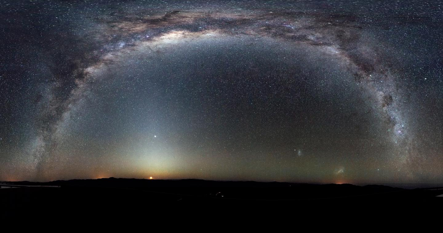 The Milky Way Arcs Into A Panorama In The Southern Sky