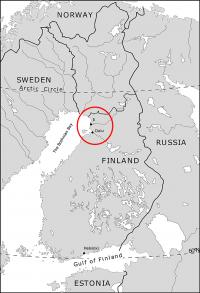Location of the Ii Hamina in Finland