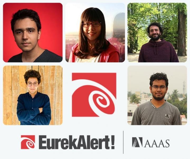 Winners of the 2021 EurekAlert! Fellowships for International Science Reporters