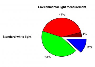 Composition of Standard White Light and Light Enriched with Blue (1 of 2)