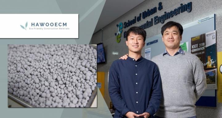 Dongho Jeon and His Advisor, Professor Jae Eun Oh