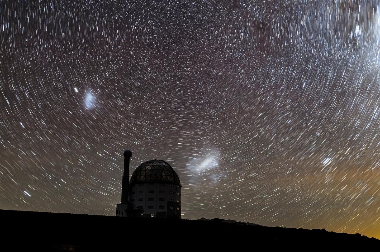 Magellanic Clouds Star Trails