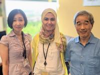 Dr. Akiko Yanagiya, Dr. Dina Mostafa, and Professor Tadashi Yamamoto