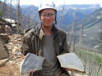 Joseph Moysiuk with Burgess Shale Fossils