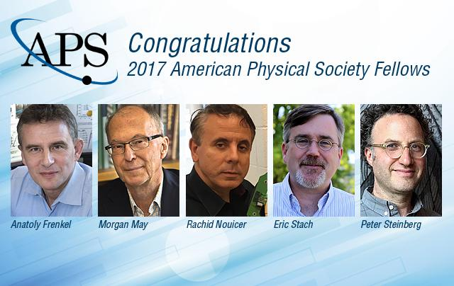 2017 APS Fellows from Brookhaven Lab