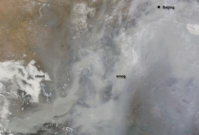 Dense Smog Over China
