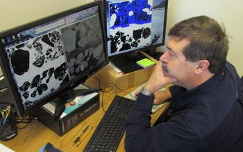 Scientists Examine X-ray CT Images