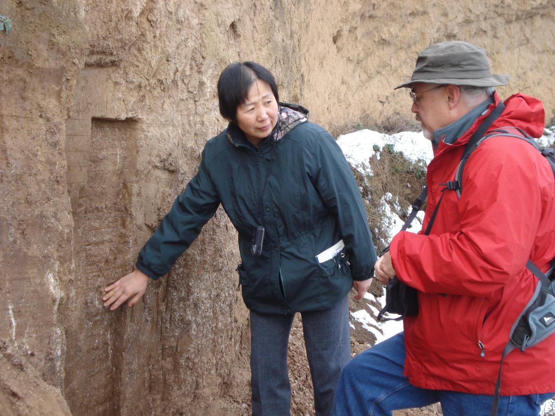 Weijian Zhou and Warren Beck at Field Site