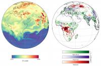 Concentrations of Methane