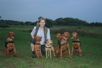Owner with Dogs