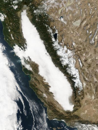 Satellite Image of Tule Fog