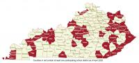Kentucky Counties with School Districts Participating in Dataseam