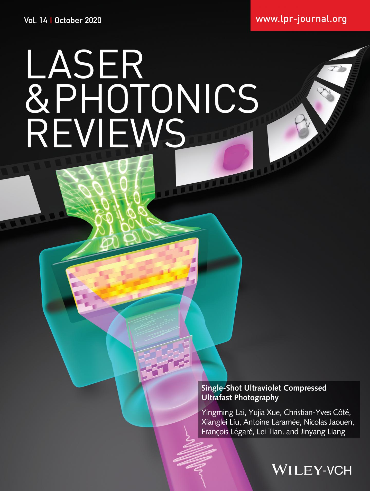 Cover of the 10th issue of the journal Laser & Photonics Reviews