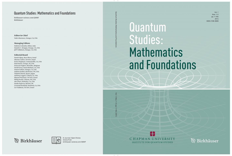 <i>Quantum Studies: Mathematics and Foundations</i> Journal Cover