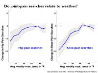 Changes in Searches for Hip and Knee Pain