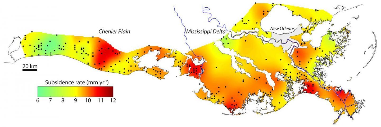 Subsidence Map from <i>Nienhuis et al</i>.