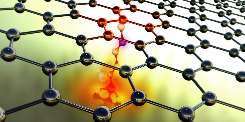 Functionalization Mediates Heat Transport of Graphene Nanoflakes