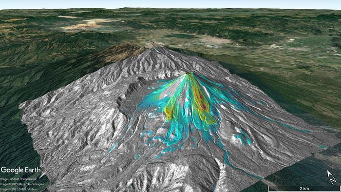 Average deformation over the Colima volcano, Mexico