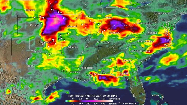 Rain that Fell from April 25 to May 2, 2016