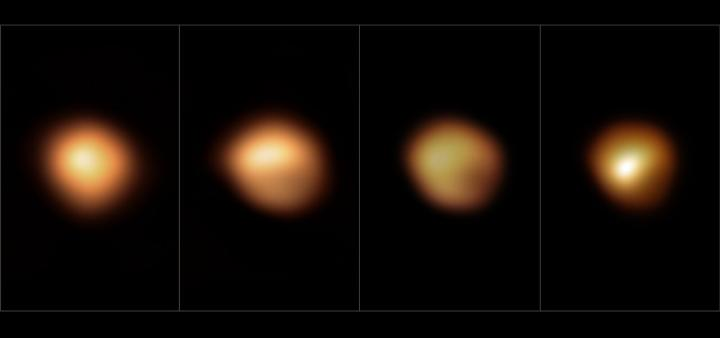 Betelgeuse's surface before and during its 2019-2020 Great Dimming