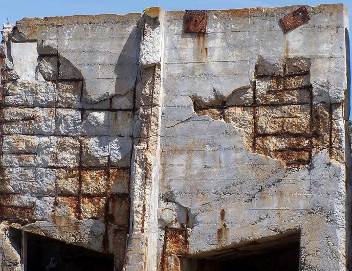 Steel-Reinforced Concrete Building with Severe Corrosion Damage
