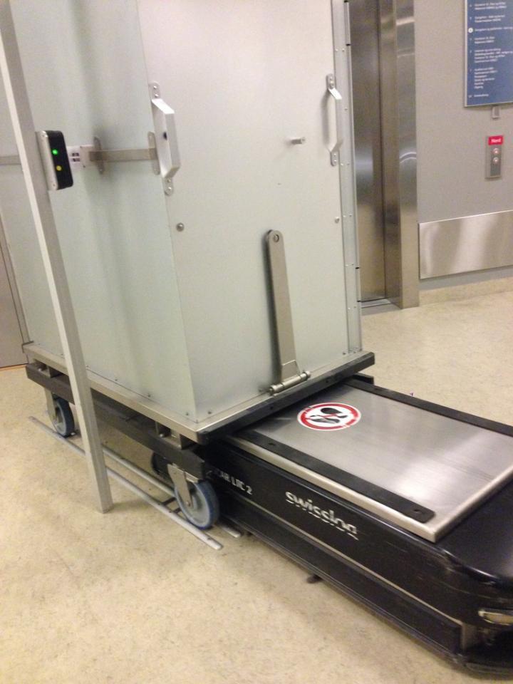 A motorized rectangular box with attitude