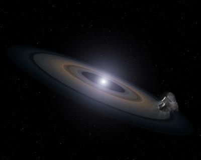 White Dwarf Star Accreting Rocky Debris