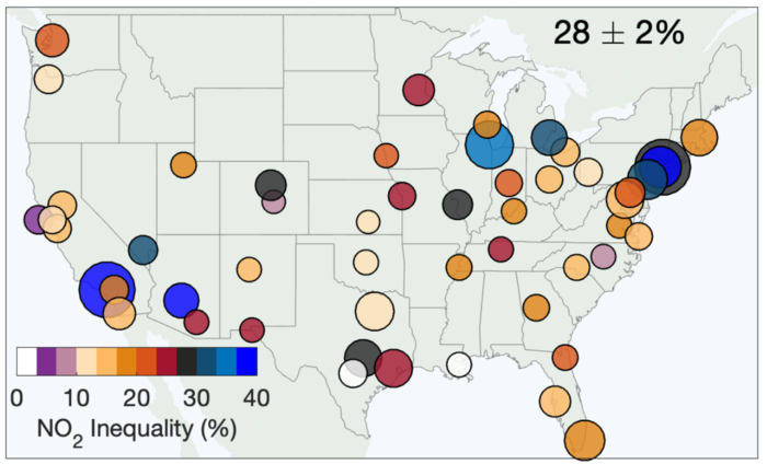 Inequalities in exposure to NO2 pollution