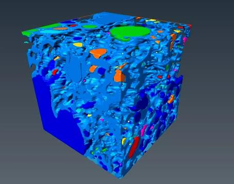3-D Image of Trapped Gas in Pumice Sample