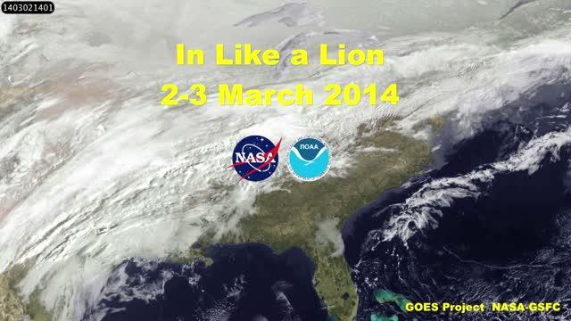GOES-East Movie of Powerful US East Coast Winter Storm