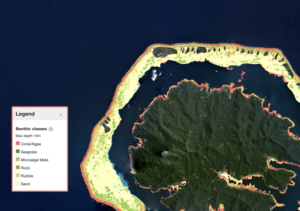Benthic Map, Central South Pacific