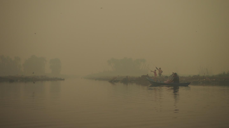Haze from peatland fires