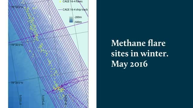Arctic Ocean Methane Flare Sites