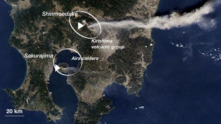 Kirishima (Shinmoedake)and Aira Caldera (Sakurajima)Volcanoes
