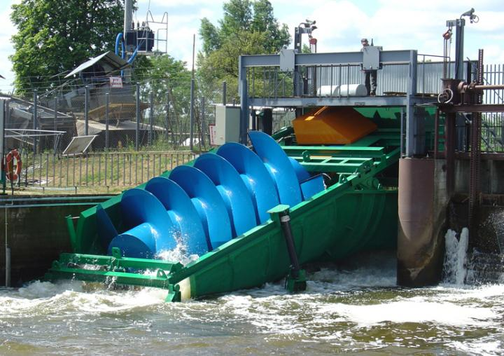 Small Hydropower Plant With Archimedes Screw Turbine