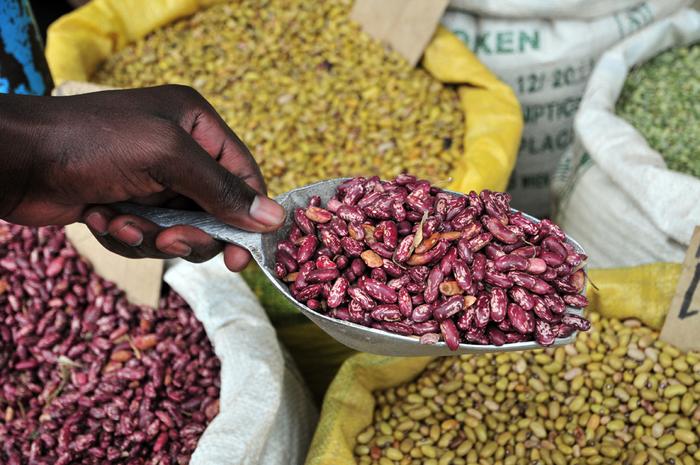 A bean market in Uganda