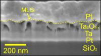 Memory Device Shown in Electron Microscope