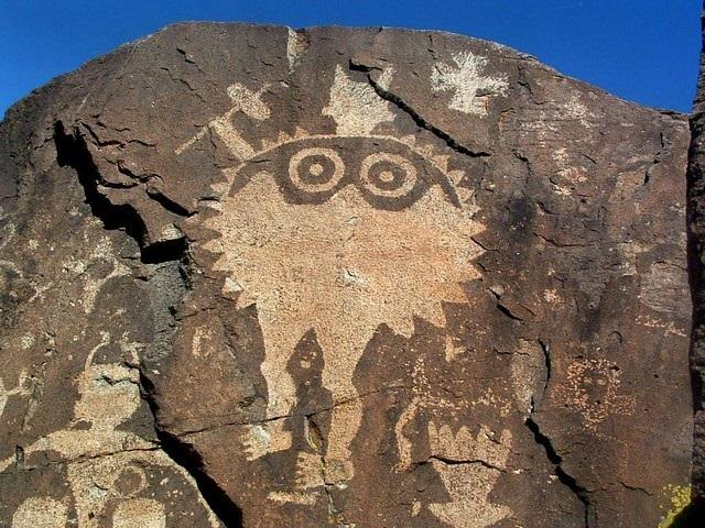 Shield Warrior Petroglyph