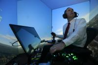 In a Flight Simulator vs. AI Opponent