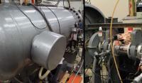 Scientists in Goddard's Cosmic Ice Lab Irradiate Ice with this Van de Graaff Accelerator
