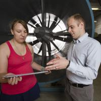Doctoral Candidate Gabrielle Wroblewski with Assistant Professor Phillip Ansell