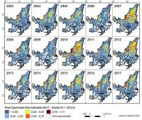 Annual Change in Burned Areas